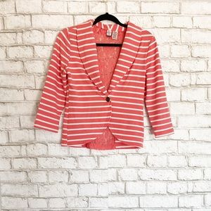 Love on a Hanger Striped Blazer with Lace Details